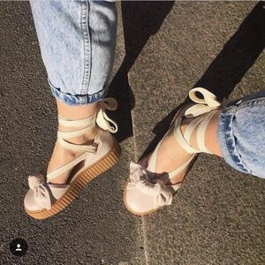 PUMA FENTY Creeper Leather bow sandals sz 7M